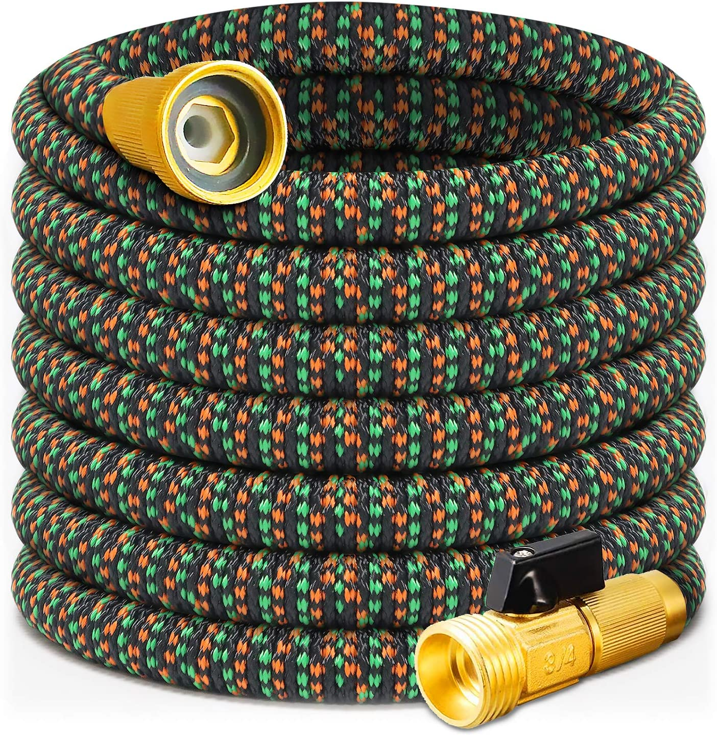 YUITCE Latest Garden Hose in 2020, Water Hose, Expandable trebling Over,10FT Leakproof,Explosion Proof,with 4 Layers of Flexible Latex. with 3/4 USA Anti-Rust 99% Brass Valve core (12.6, 10FT)