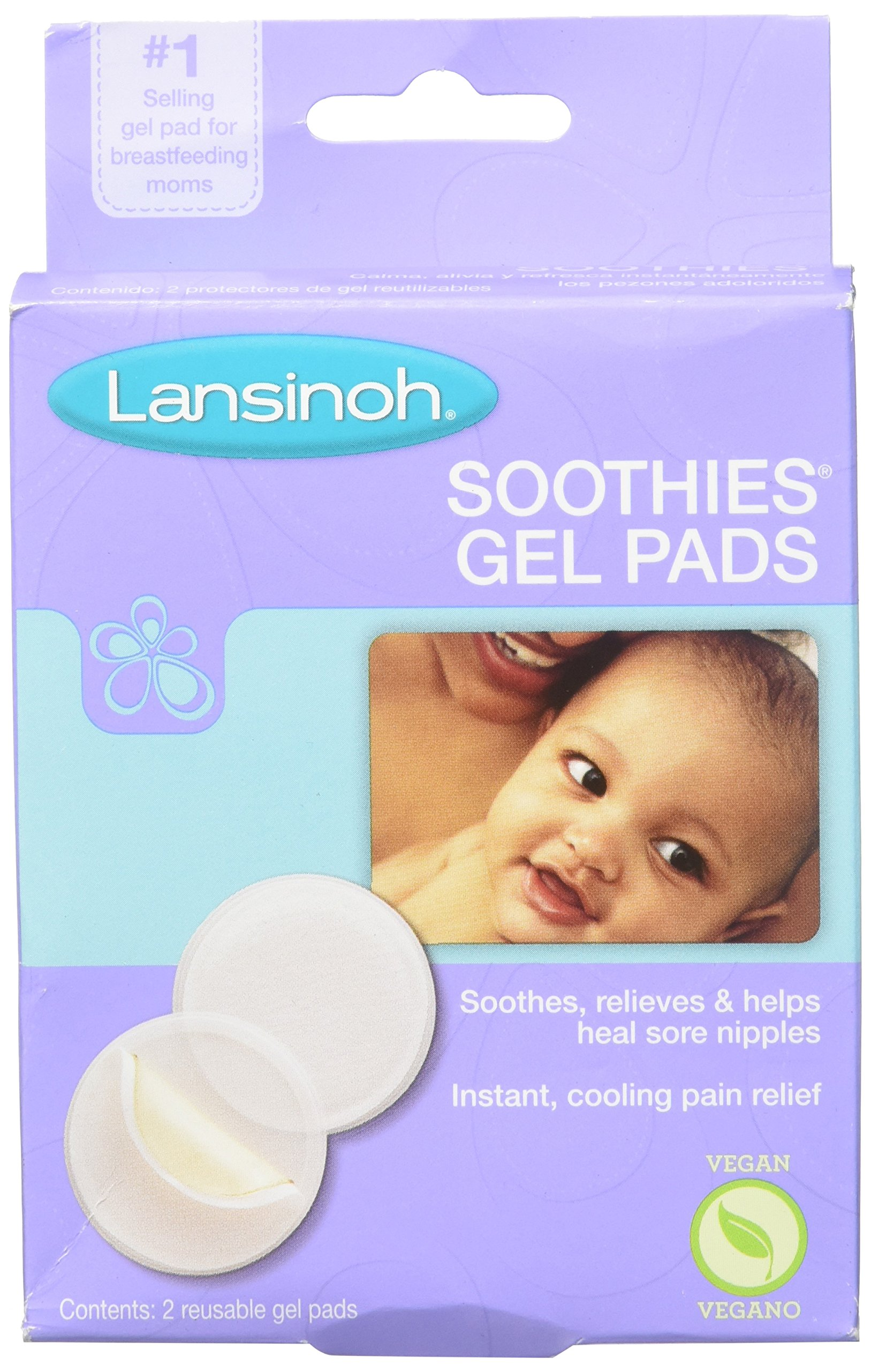 Lansinoh Laboratories Soothies Gel Pads, 2 Count