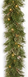 National Tree Company Company lit Artificial Christmas Garland Includes Pre-strung White Lights Atlanta Spruce - 9 ft, 9 x 10 Feet