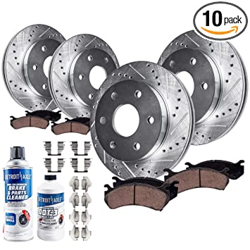 REAR DRILLED SLOTTED BRAKE ROTORS AND CERAMIC PADS For Frontier Xterra Equator