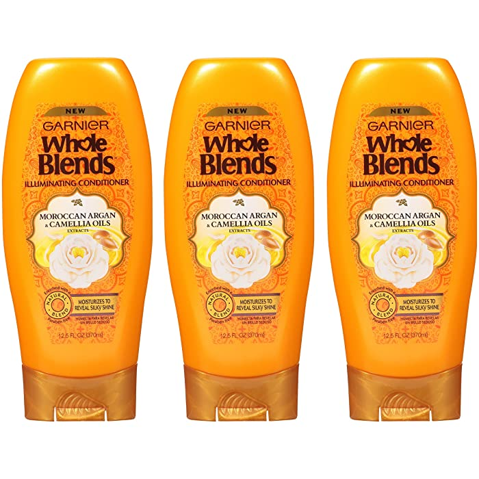 Garnier Whole Blends Shampoo and Conditioner, 12.5 Fl Oz, 3 Count