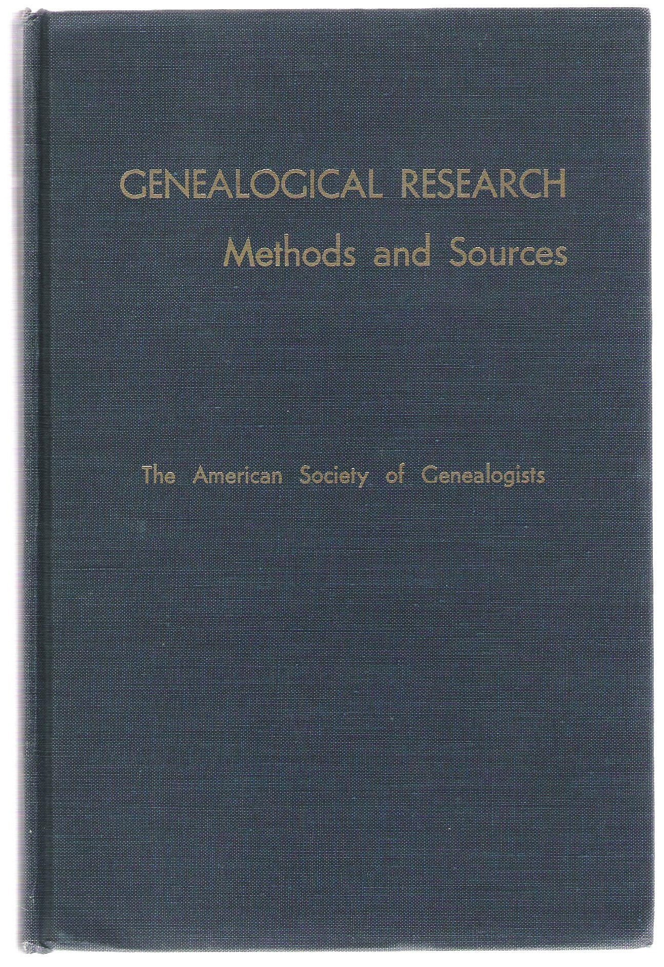 Genealogical Research: Methods and Sources, Rubincam, Milton