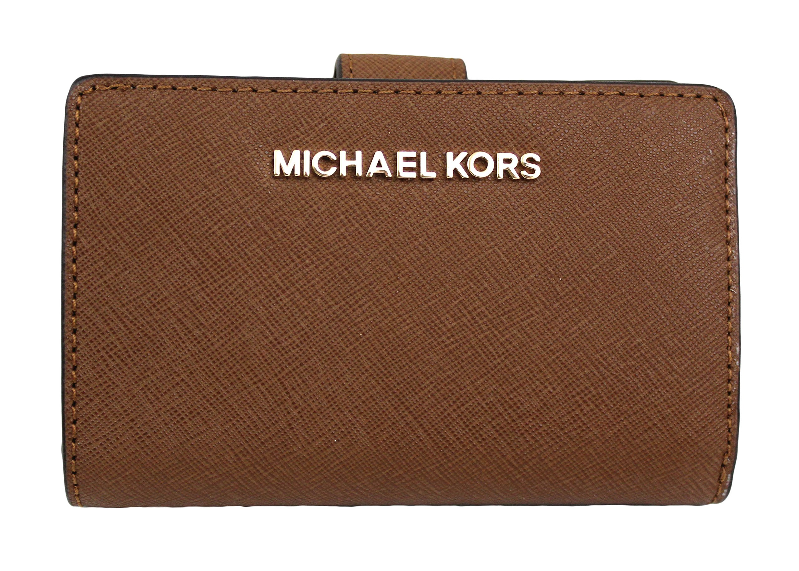 MICHAEL Michael Kors Jet Set Travel Bifold Zip Coin Wallet (Luggage) by Michael Kors