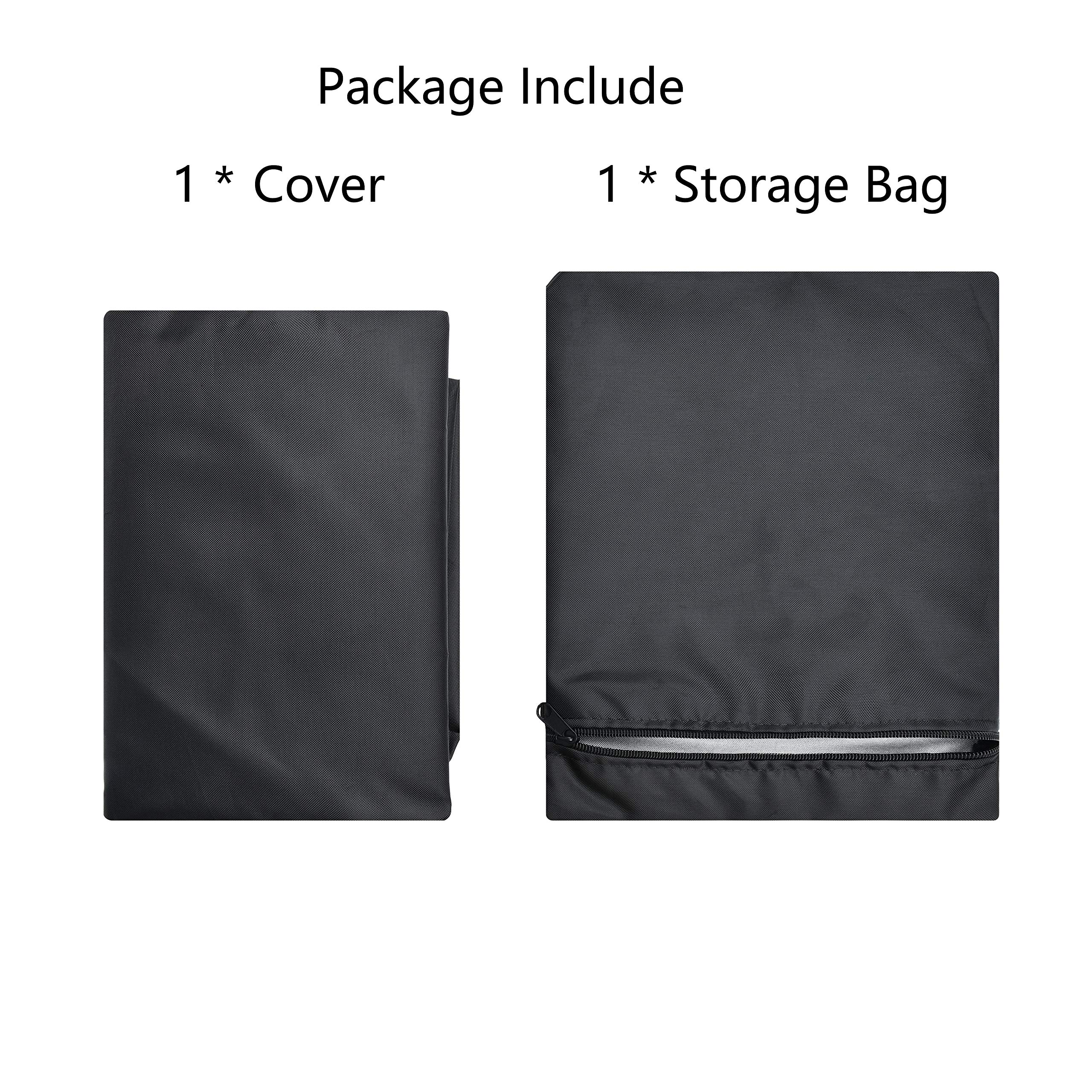 Kasla Treadmill Cover, Non-Folding Running Machine Protective Cover Dustproof Waterproof Cover Heavy Duty and Water-Resistant Fitness Equipment Fabric Ideal for Indoor or Outdoor Use (81×37×67in) by Kasla (Image #7)