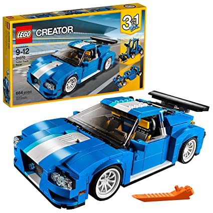 Amazoncom Lego Creator Turbo Track Racer 31070 Building Kit 664