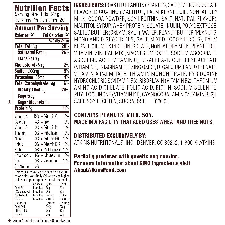 Atkins Snack Caramel Chocolate Nut Roll Pack (19 + 1 Bonus Bar) AS by American Standart (Image #2)