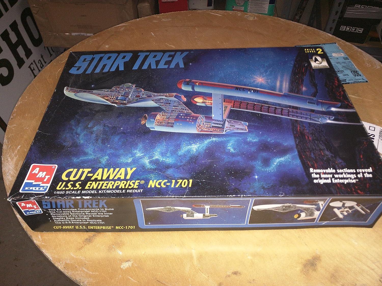 amazon com amt ertl star trek cut away u s s enterprise ncc 1701 1