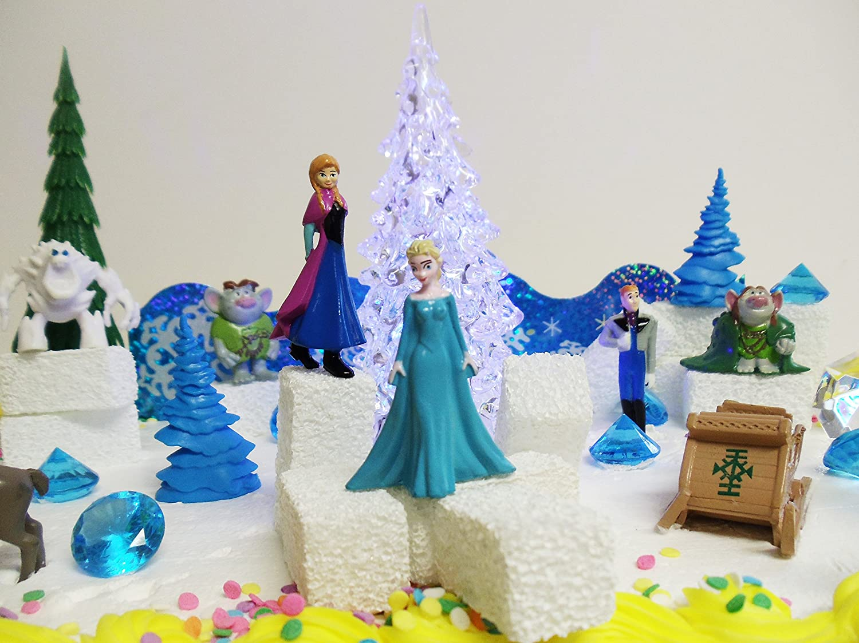 Amazoncom Frozen 23Piece Elsa and Anna Birthday Cake Topper Set