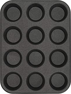 product image for G & S Metal Products Company Non-Stick ProBake Teflon Xtra Nonstick Muffin Baking Pan, 12-Cup, Gray