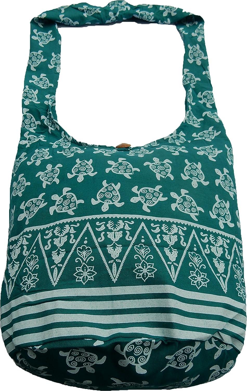 Ariyas thaishop sac en coton /à motif tortue de ariyas thaishop sac bandouli/ère //