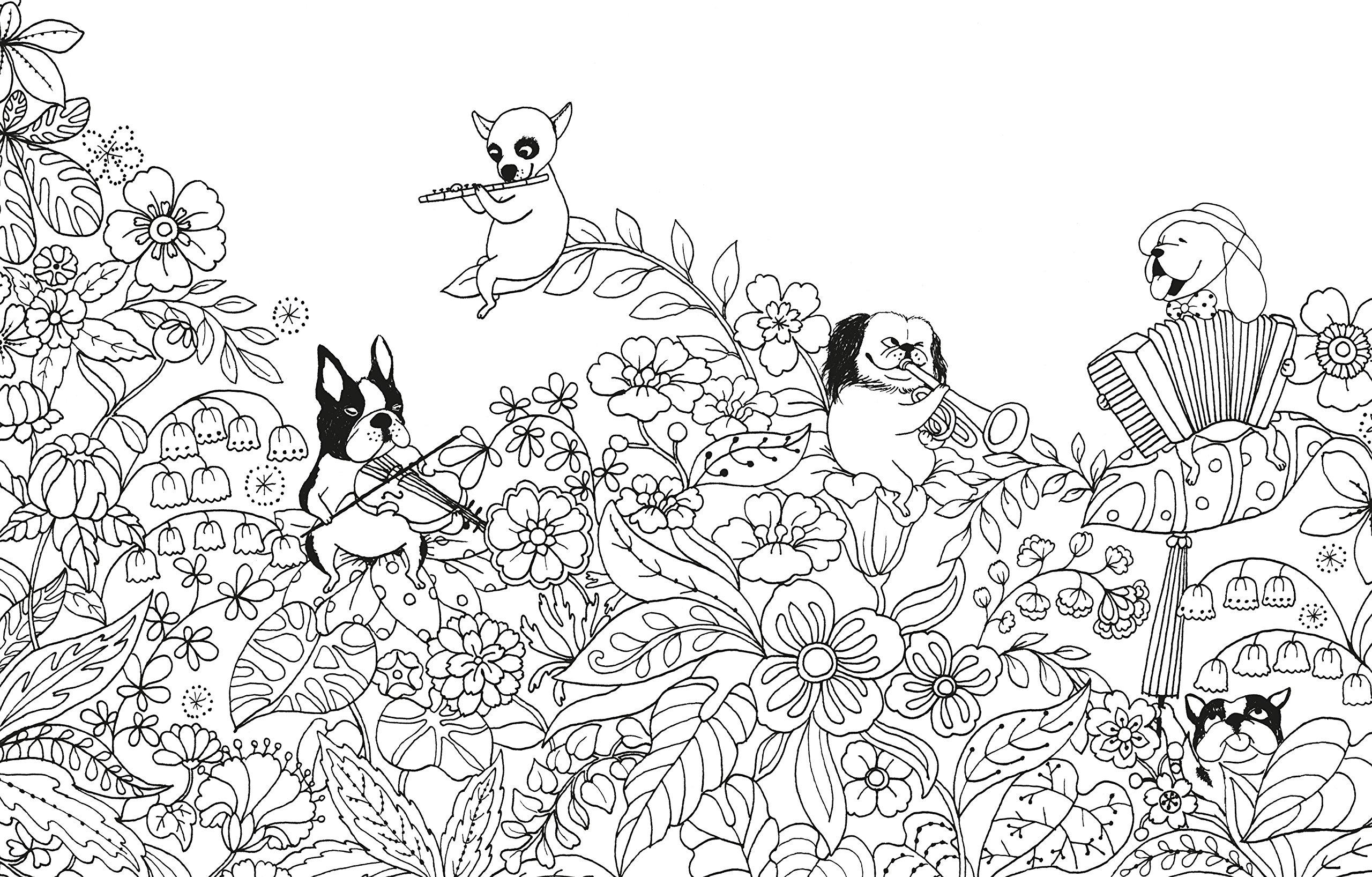 Un Millón De Perros Cachorros Adorables Para Colorear Libro De