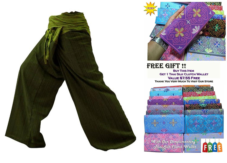 SUWARENE Zenza Fashion ST * * 2Tono Pescador Thai Pantalones de Yoga Pantalones tamaño Libre * * A la Venta de Rayas de algodón con diseño Exclusivo * *