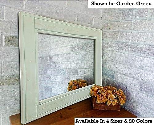 Amazon Com Herringbone Reclaimed Wood Framed Mirror Available In