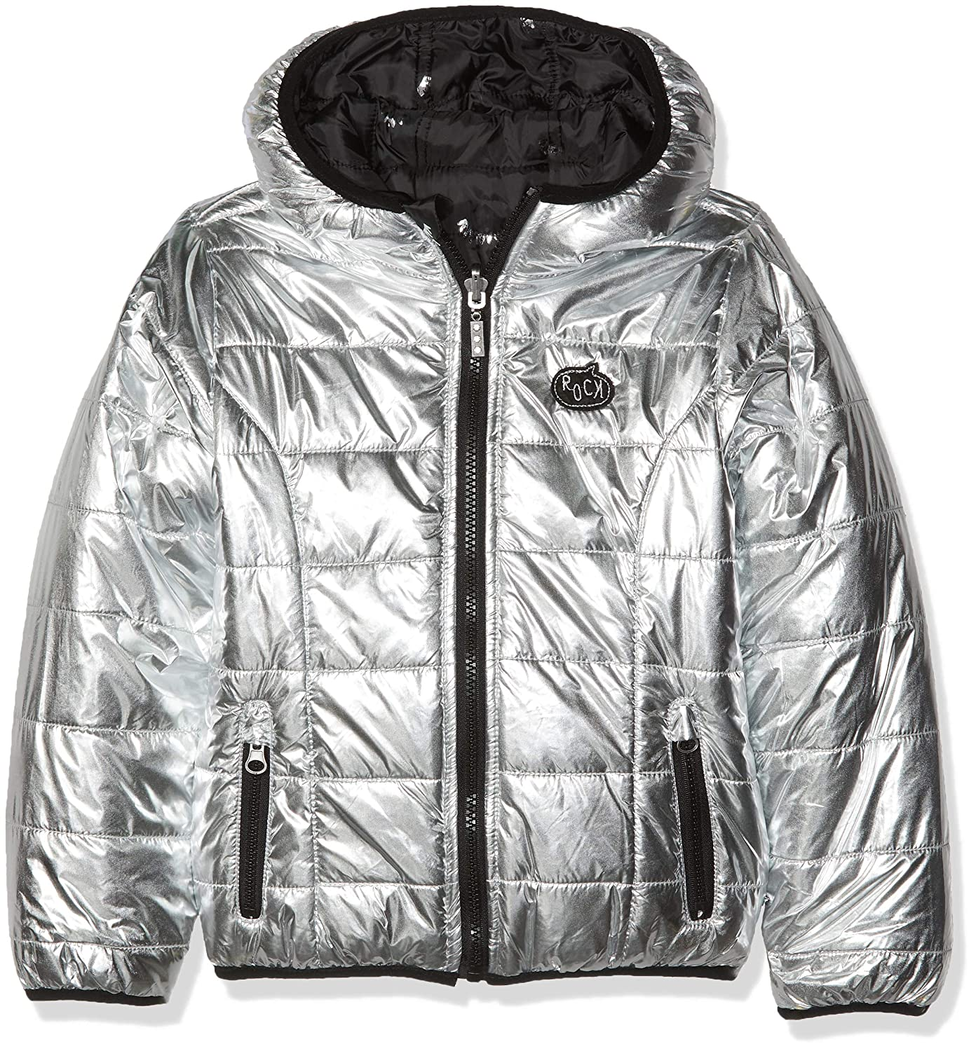 c1511a7e 3 Pommes Girl's Jacket 3M41014 Silver 18, 2-3 Years (Size: 2Y/3Y):  Amazon.co.uk: Clothing