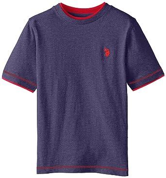 290bab23 Amazon.com: U.S. Polo Assn. Big Boys' Double Crew Look T-Shirt: Clothing