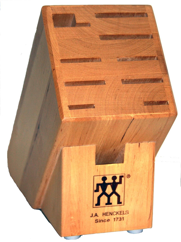 Amazon.com: J.A. Henckels 10 Slot Hardwood Knife Storage Block: Henkel Knife  Holder: Kitchen U0026 Dining