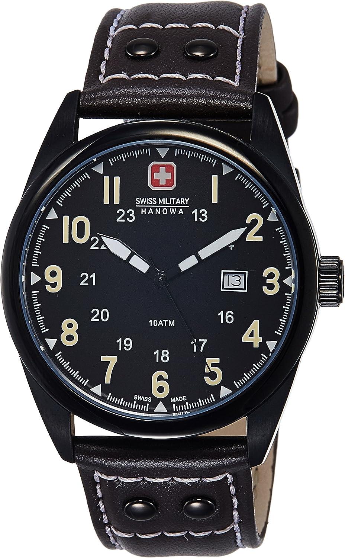 INTELIHANCE. 6-4181.13.007.05 - Reloj de Cuarzo para Hombre, con Correa de Cuero, Color marrón