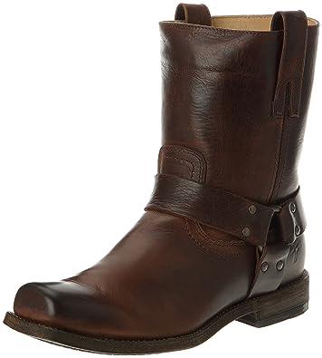 Amazon.com: FRYE Men's Smith Harness Motorcycle Boot: Shoes