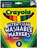Crayola Broad Point Washable Markers  - Pack of 2 (58-7808-2Pack)