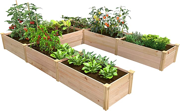 Amazon Com Greenes Fence Premium Cedar Raised Garden Bed 8 Ft X