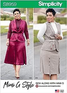 Simplicity S8959 - Patrones de costura para camiseta, falda y ...
