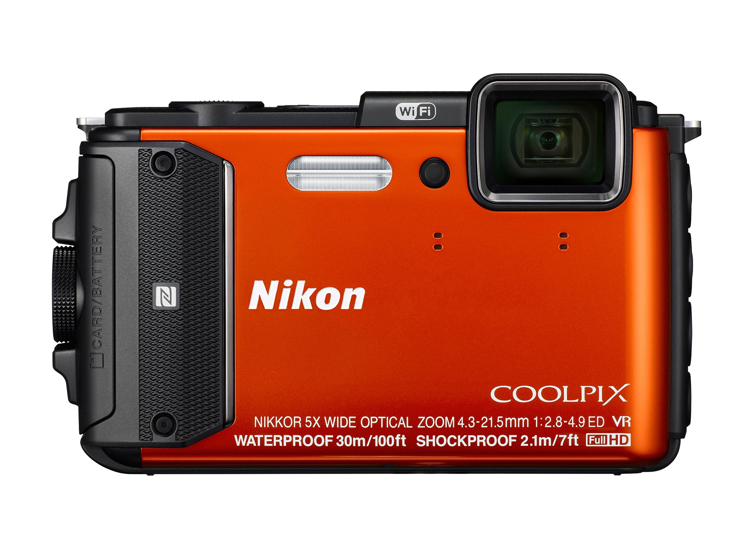 Nikon Coolpix AW130 Shock & Waterproof GPS Digital Camera (Orange) - International Version by Nikon