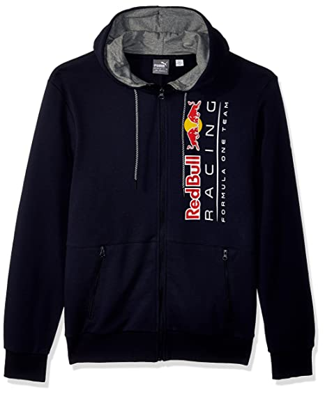 31b06aec5f75e PUMA Men's Red Bull Racing Logo Hooded Sweat Jacket