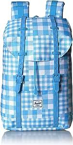 Herschel Retreat Backpack, Gingham Alaskan Blue, Mid-Volume 14.0L, Retreat Backpack