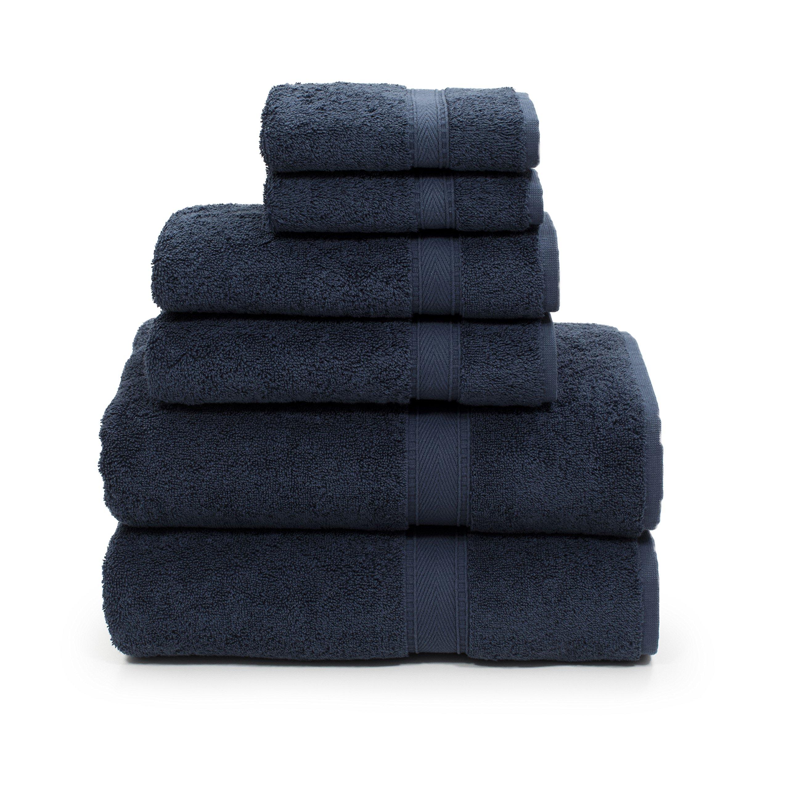 Linum Home Textiles SN50-6C Bath Towel, Navy