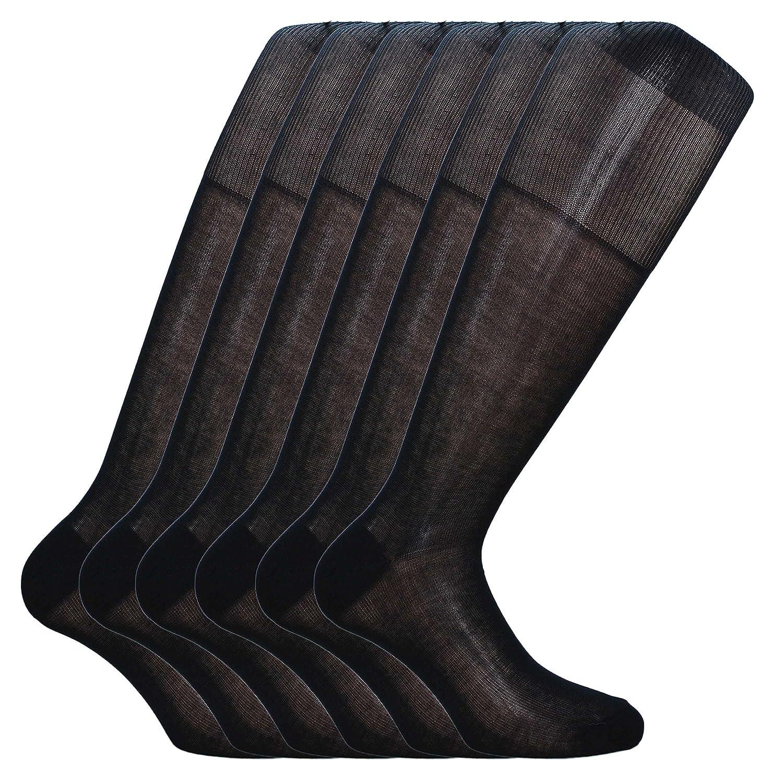 Fontana Calze, 12 paia di calze UOMO lunghe in 100% Cotone Filo di Scozia Velato. 1810