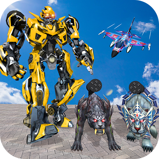 Multi Robot Transform Battle, Police Dog, Tiger & Wildcat, for sale  Delivered anywhere in USA