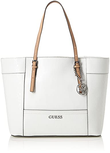 ae2847b4394 GUESS Women s Delaney Medium Classic Tote Tote Bag white white ...