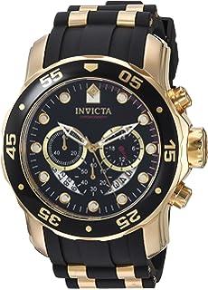 4858d858cca Invicta Men s 6981 Pro Diver Analog Swiss Chronograph Black Polyurethane  Watch
