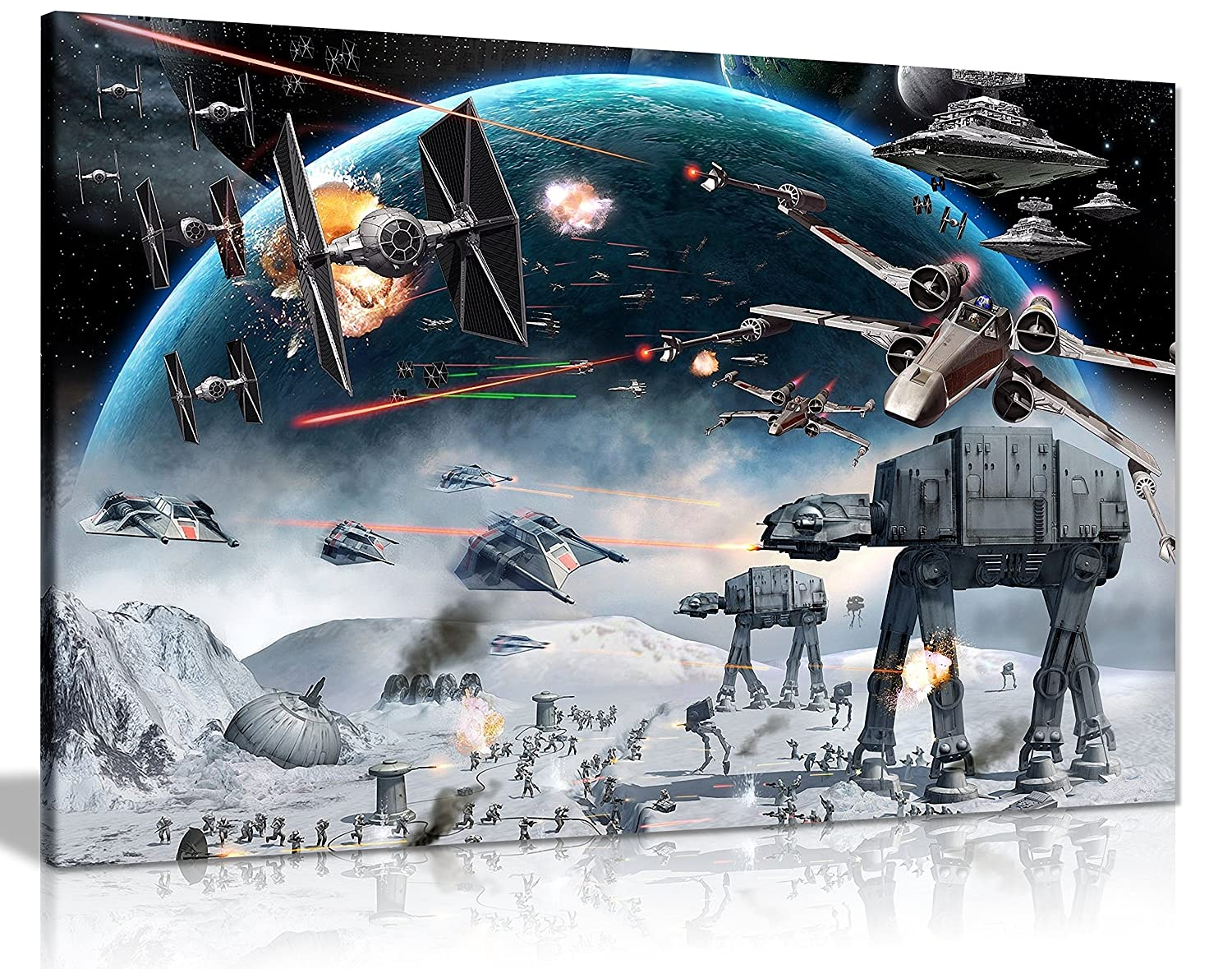 star wars movie canvas print framed storm troopers amazon co uk star wars canvas art print framed picture large 20x30 inches a1