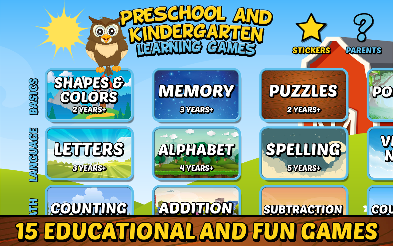 AmazonCom Preschool And Kindergarten Learning Games Free Appstore