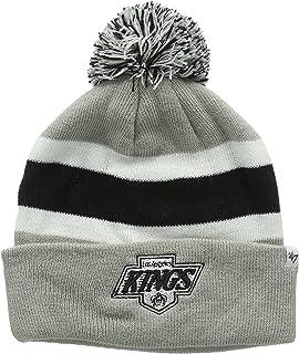 71744b40519  47 Brand Breakaway Cuff Beanie Hat with POM POM - NHL Cuffed Winter Knit  Baseball.