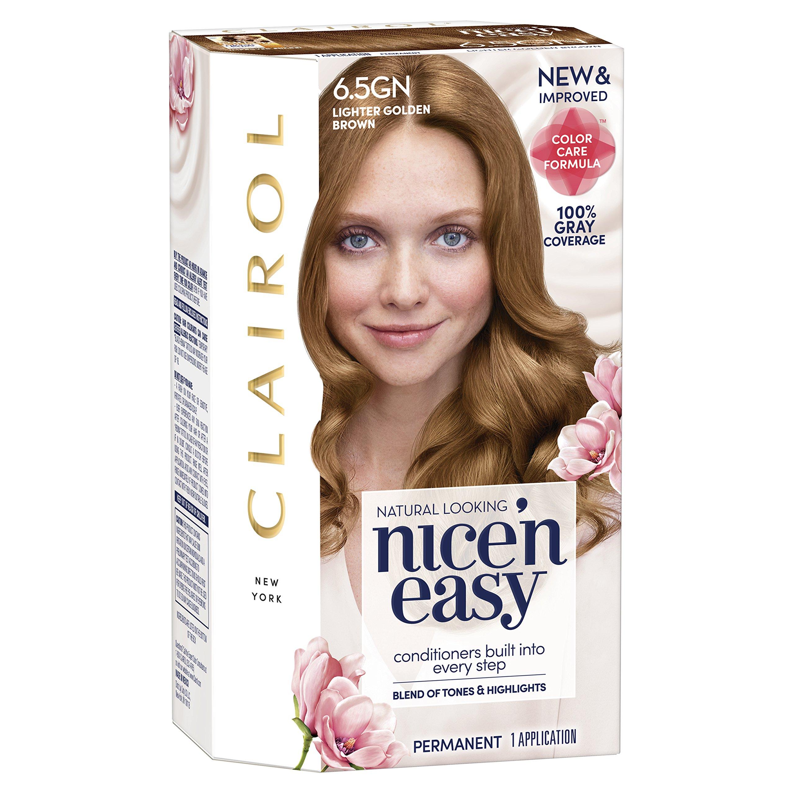 Clairol Nice N Easy 65gn Lighter Golden Brown Permanent Hair