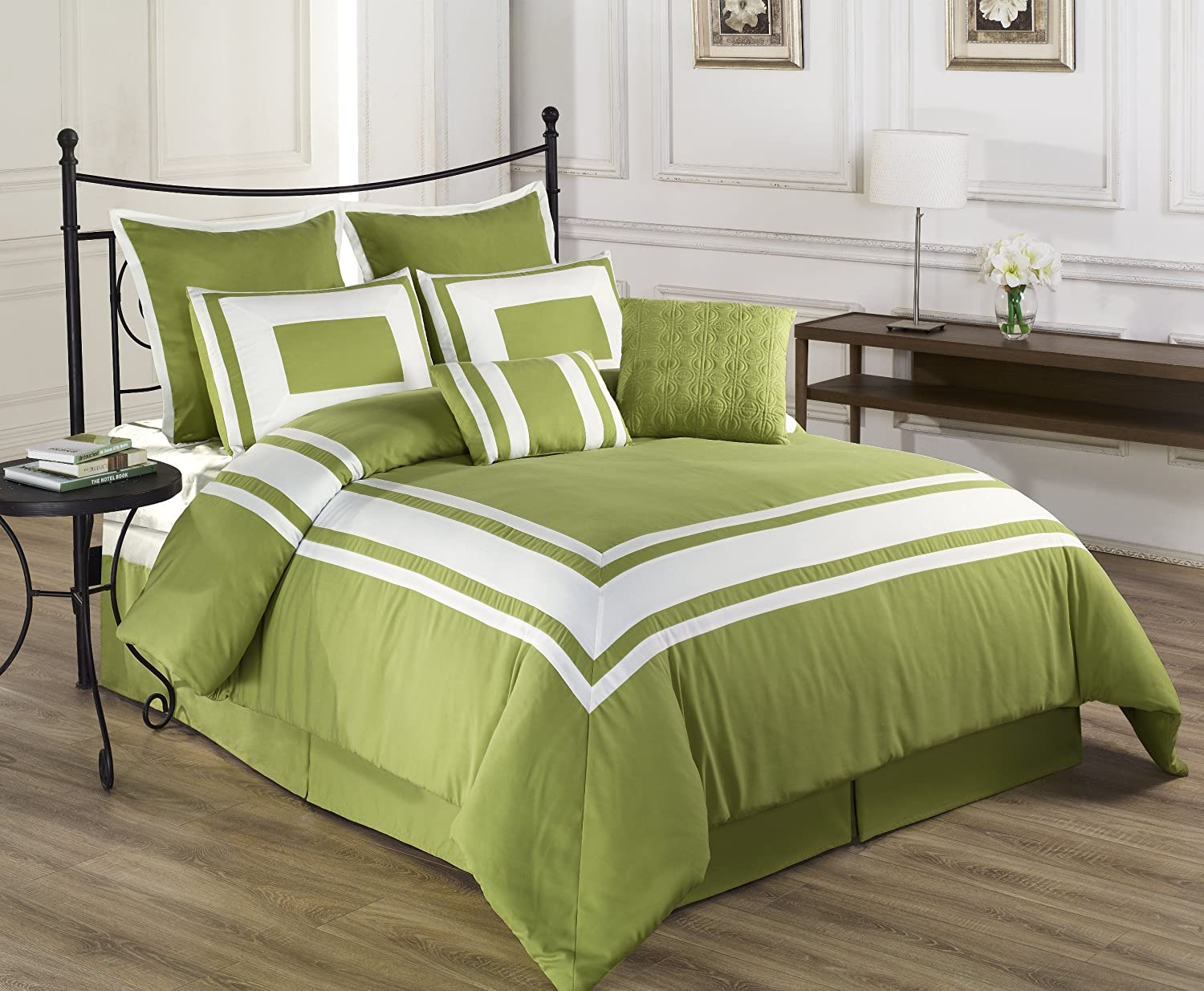 green bedding sets queen