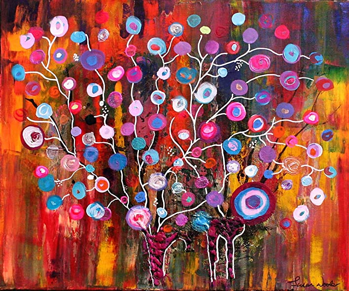 Amazon Com Colourful Tree Susan Wooler Fine Art