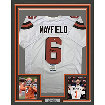 baker mayfield signed browns jersey