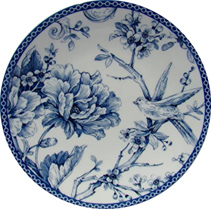 Amazon.com: 222 Fifth Adelaide Blue Round Appetizer/dessert Plates ...