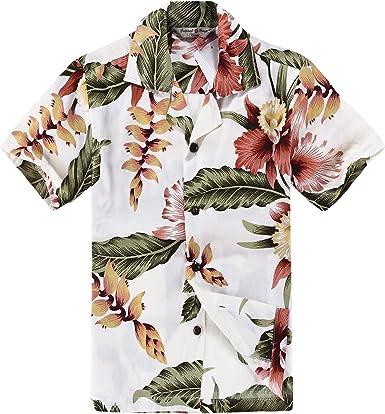Chico Camisa Hawaiana o Conjunto de cabaña en Crema Rafelsia