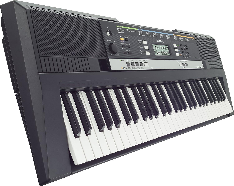 Yamaha PSRE243 PSR-E243 - Teclado electrónico (plástico, 61 teclas, 2 altavoces integrados, conector tipo USB a MIDI), color negro: Amazon.es: Instrumentos ...