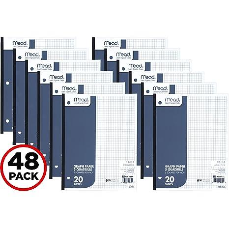 amazon com mead graph paper pads quadrille 5 squares per inch