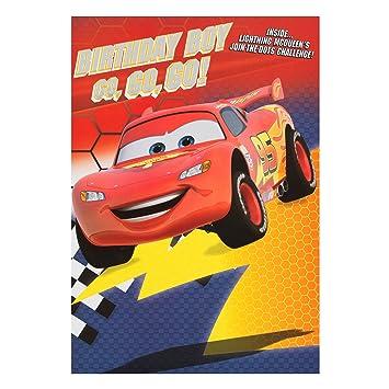 Hallmark Disney Cars Birthday Card Go Go Go Medium Amazon