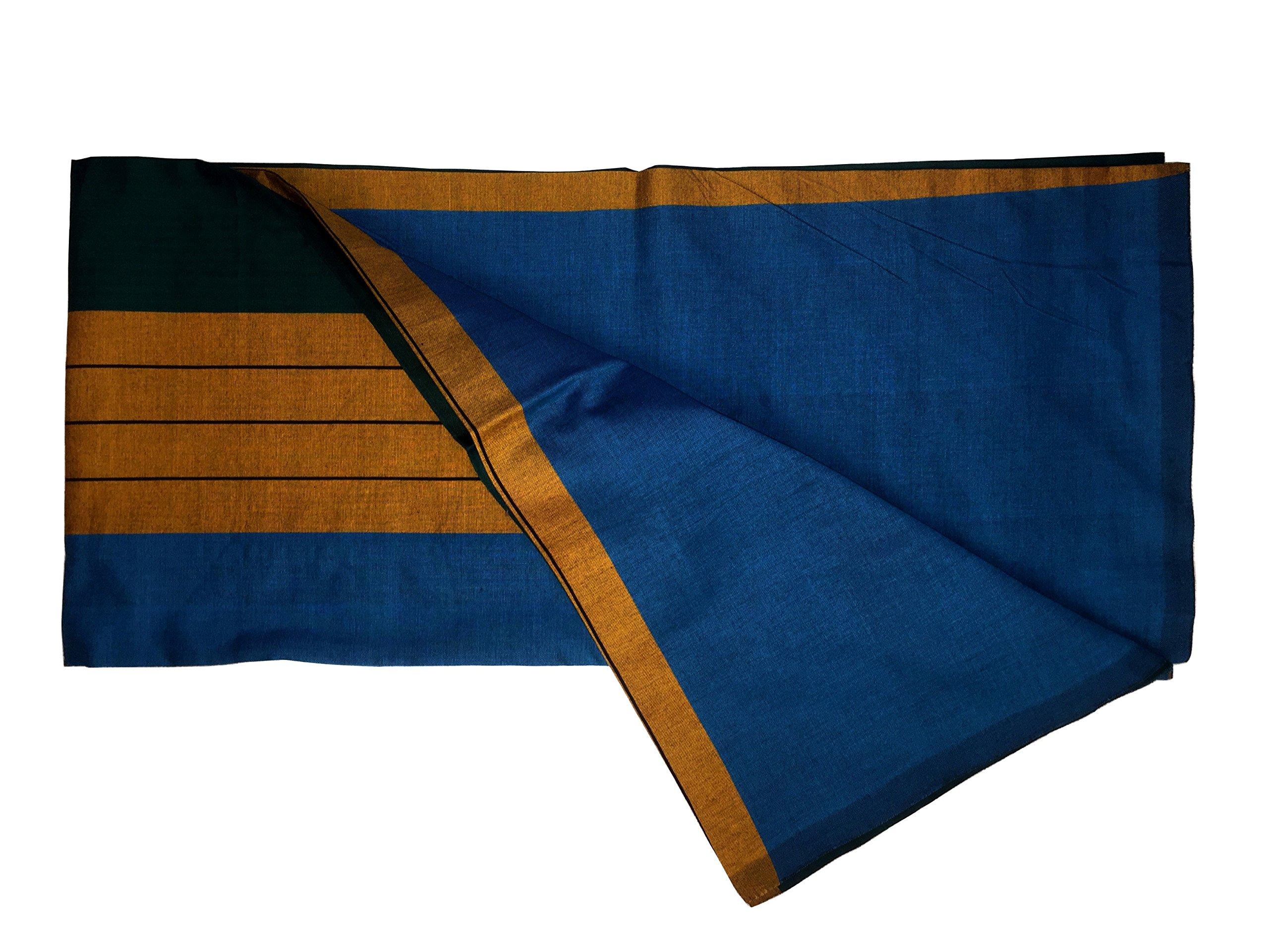 ReenaHANDS Lungi Sarong Mens Handloom Lungi Sarong 100% Cotton. Stitched Tube Sarong. Assorted Color/Design by ReenaHANDS (Image #2)