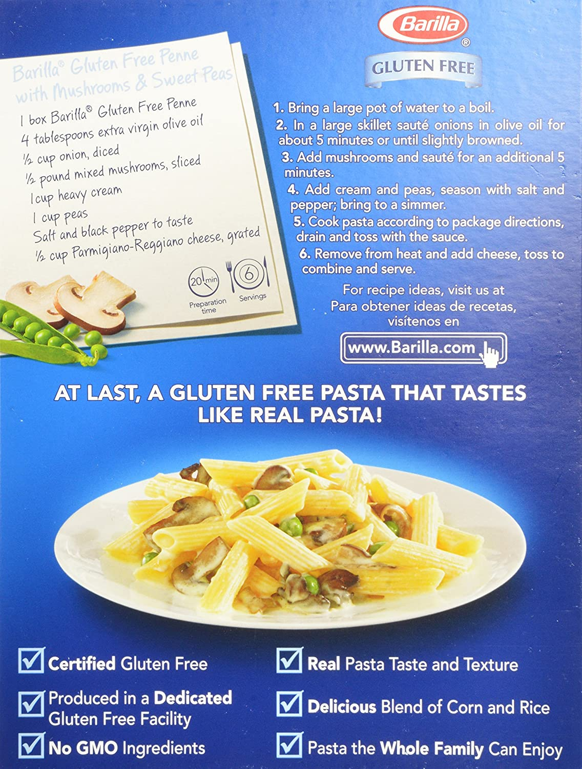 com barilla penne pasta gluten ounce pack of  com barilla penne pasta gluten 12 ounce pack of 8 grocery gourmet food