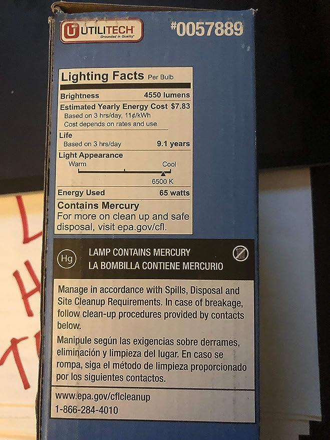 Feit Electric 65-Watt 6, 500K Mogul Base (E-40) Daylight CFL Bulb - - Amazon.com