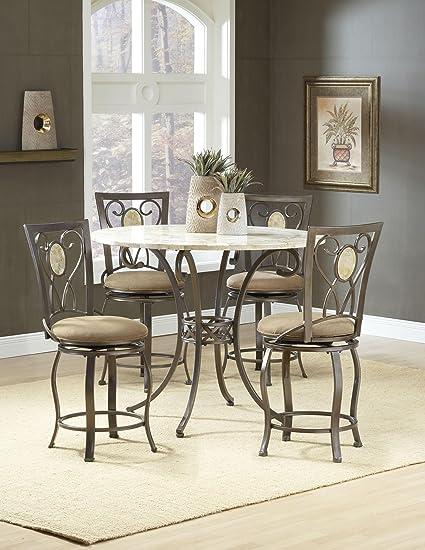 Amazoncom Hillsdale Furniture Brookside Counter Height Dining - Stone top counter height dining table