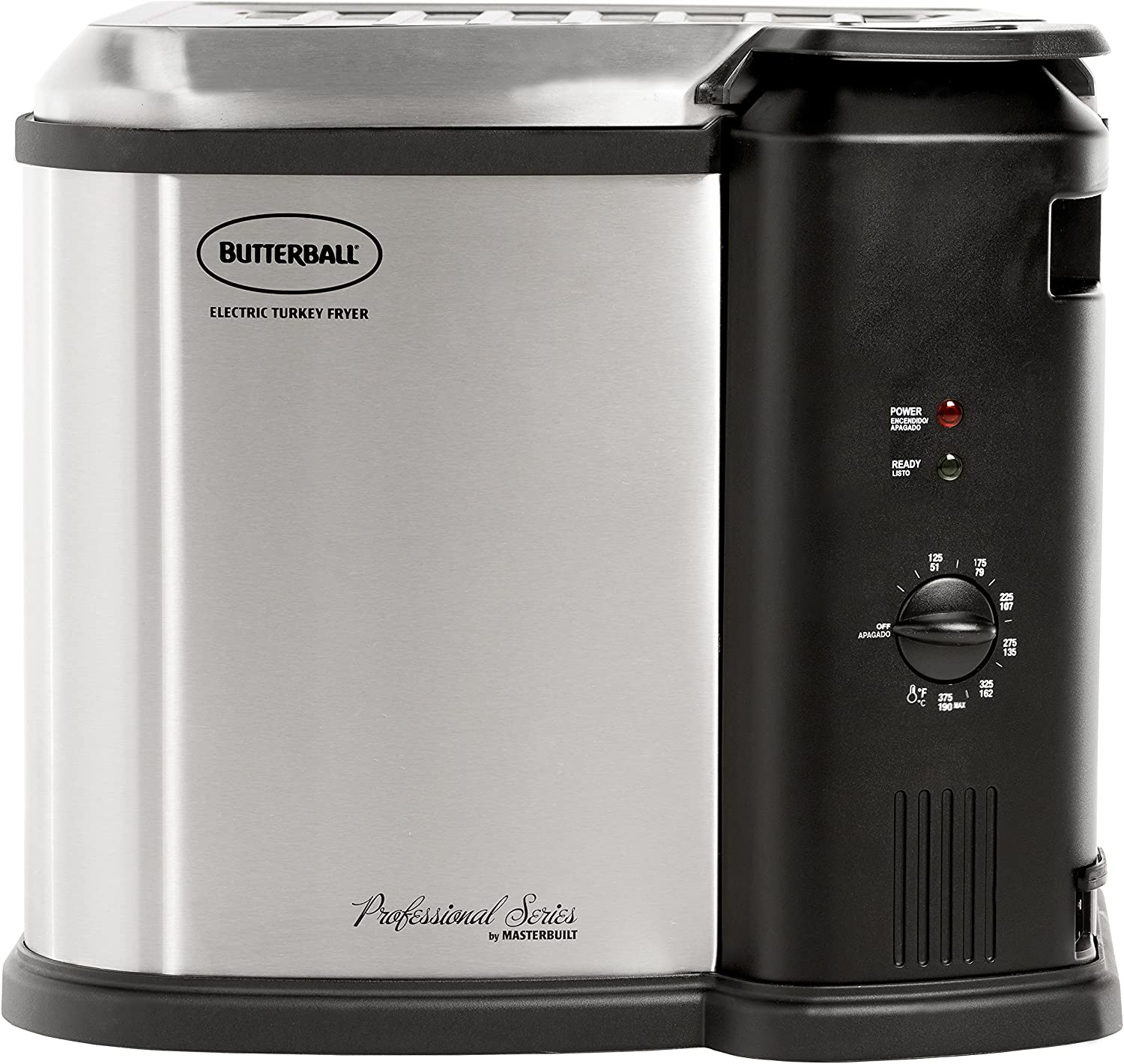 Butterball 23010115 MB23010118 Electric Fryer, Large Stainless Steel/Black